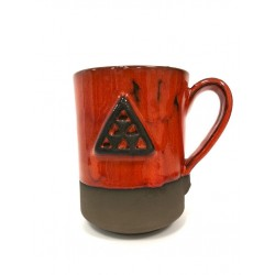 Jarra roja cerámica...