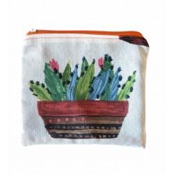Neceser de tela Cactus
