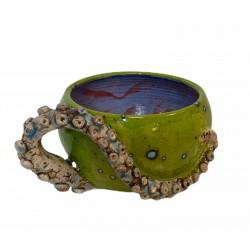 Bowl pulpo cerámica esmaltada