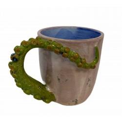 Taza pulpo cerámica esmaltada