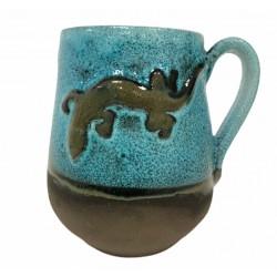 Taza decorada de cerámica